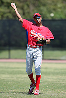 April 1, 2010:  Aaron Altherr of the Philadelphia Phillies organization during Spring Training at the Carpenter Complex in Clearwater, FL.  Photo By Mike Janes/Four Seam Images