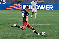 FOXBOROUGH, UNITED STATES - AUGUST 20: Matt Polster #8 of New England Revolution during a game between Philadelphia Union and New England Revolution at Gilette on August 20, 2020 in Foxborough, Massachusetts.
