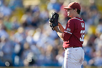 Oklahoma starting pitcher Zach Neal in Game 10 of the NCAA Division One Men's College World Series on June 24th, 2010 at Johnny Rosenblatt Stadium in Omaha, Nebraska.  (Photo by Andrew Woolley / Four Seam Images)
