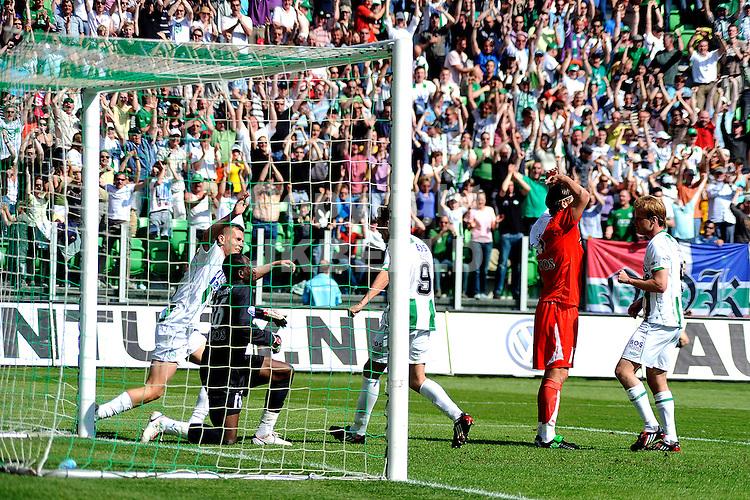 voetbal fc groningen - fc utrecht play off eredivisie seizoen 2007-2008 04-05-2008  sjvedik heeft 2-1 gescoord.. fotograaf Jan Kanning