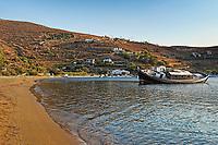The beach of Vourkari in Kea, Greece