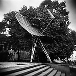 Antenna in front of the Radioelectronics pavilion at the VVC, former VDNHk. Moscow, Russia, 2009