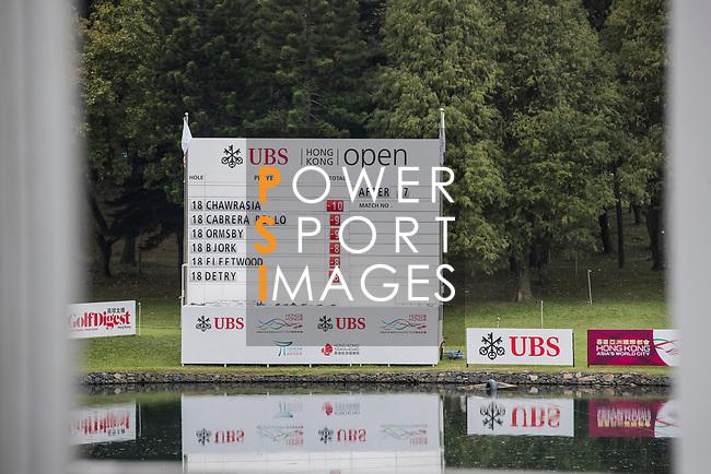 The Leader Board during the day four of UBS Hong Kong Open 2017 at the Hong Kong Golf Club on 26 November 2017, in Hong Kong, Hong Kong. Photo by Yu Chun Christopher Wong / Power Sport Images