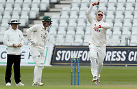Simon Harmer of Essex in bowling action during Nottinghamshire CCC vs Essex CCC, LV Insurance County Championship Group 1 Cricket at Trent Bridge on 7th May 2021