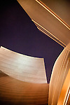 Abstract of Disney Hall at night