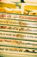 """Europe/France/Provence-Alpes-Côtes d'Azur/06/Alpes-Maritimes/Cannes : Détail des marches du Fouquets de l'hôtel """"Majestic"""" en référence au festival de Cannes"""