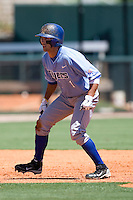 Memphis Tigers outfielder Drew Martinez #1 leads off of second base against the Rice Owls in NCAA Conference USA baseball on May 14, 2011 at Reckling Park in Houston, Texas. (Photo by Andrew Woolley / Four Seam Images)