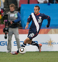 The USA's Landon Donovan dribbles toward the goal before scoring a goal  during the second half of the 2010 World Cup match between USA and Slovenia at Ellis Park Stadium in Johannesburg, South Africa on Friday, June 18, 2010.  The USA tied Slovenia 2-2.