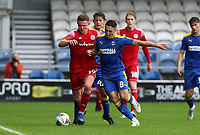 Colby Bishop of Accrington Stanley and Anthony Hartigan of AFC Wimbledon during AFC Wimbledon vs Accrington Stanley, Sky Bet EFL League 1 Football at The Kiyan Prince Foundation Stadium on 3rd October 2020