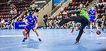 Gregor Thomann (HBW Balingen #8) ; Johannes Bitter (TVB Stuttgart #1) ; BGV Handball Cup 2020 Halbfinaltag: TVB Stuttgart vs. HBW Balingen-Weilstetten am 11.09.2020 in Ludwigsburg (MHPArena), Baden-Wuerttemberg, Deutschland<br /> <br /> Foto © PIX-Sportfotos *** Foto ist honorarpflichtig! *** Auf Anfrage in hoeherer Qualitaet/Aufloesung. Belegexemplar erbeten. Veroeffentlichung ausschliesslich fuer journalistisch-publizistische Zwecke. For editorial use only.
