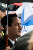 Montreal Mayor Michael Applebaum attend Israel Day in downtown Montreal, April 16, 2013.<br /> <br /> Applebaum was arrested for corruption and resigned later in 2013.<br /> <br /> Photo : Agence Quebec Presse - Jules Marchetti