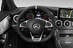 Car pictures of steering wheel view of a 2018 Mercedes Benz C-Class Coupe AMG C63 S 2 Door Coupe