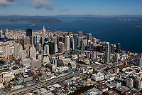aerial photograph South of Market, SOMA, San Francisco financial district