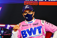 15th November 2020; Istanbul Park, Istanbul, Turkey; FIA Formula One World Championship 2020, Grand Prix of Turkey, Race Day;  11 Sergio Perez MEX, BWT Racing Point F1 Team as he takes 2nd place in the race