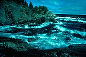 Lake Superior shoreline in the Upper Peninsula of Michigan. Middle Island Pt near Marquette.