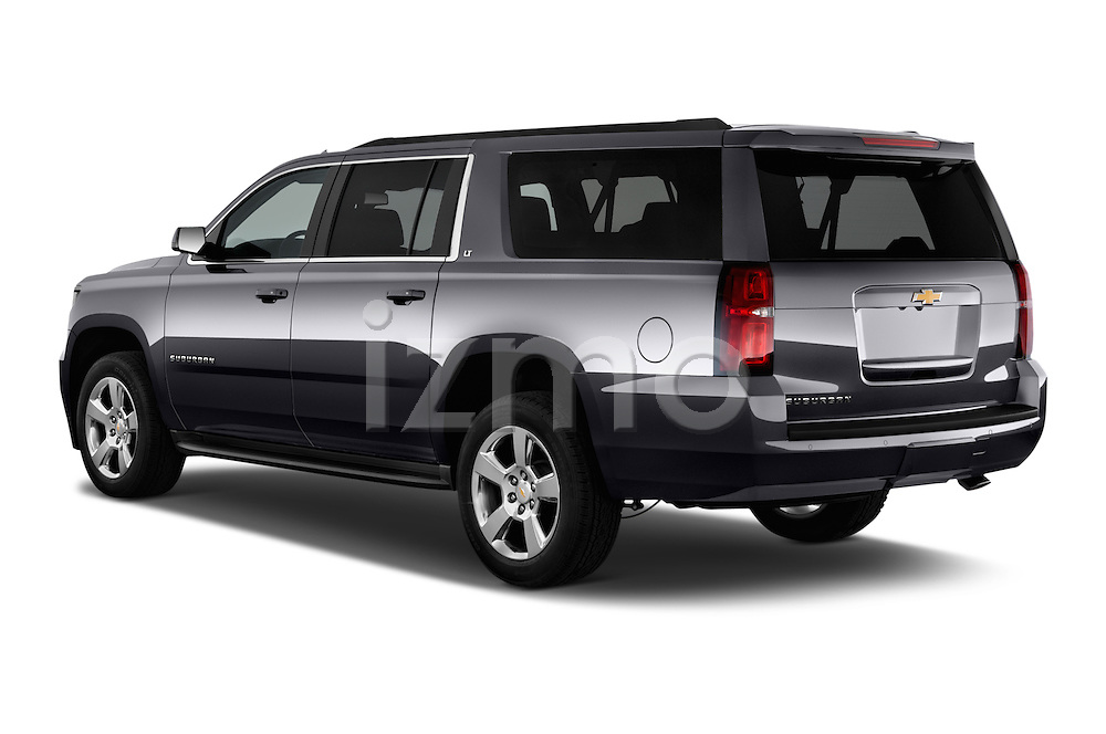 Rear three quarter view of a 2015 Chevrolet Suburban 2WD 1500 LT 5 Door SUV