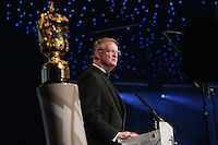 LONDON, ENGLAND - NOVEMBER 01:  Bernard Lapasset the Chairman of World Rugby addresses the guests during the World Rugby Awards 2015 at Battersea Evolution on November 1, 2015 in London, England.  (Photo: World Rugby)