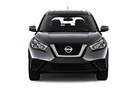 Car photography straight front view of a 2019 Nissan Kicks SV 5 Door SUV