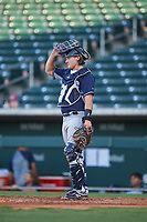 AZL Padres 1 catcher Chandler Seagle (11) during an Arizona League game against the AZL Cubs 1 on July 5, 2019 at Sloan Park in Mesa, Arizona. The AZL Cubs 1 defeated the AZL Padres 1 9-3. (Zachary Lucy/Four Seam Images)