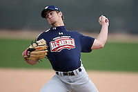 January 17, 2010:  Evan Hilton (Cartersville, GA) of the Baseball Factory Southeast Team during the 2010 Under Armour Pre-Season All-America Tournament at Kino Sports Complex in Tucson, AZ.  Photo By Mike Janes/Four Seam Images