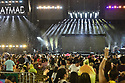 MIAMI GARDENS, FL - AUGUST 14: DeeJayMad performs on stage before the Dominican-American Bachata group Aventura performs on stage during the Inmortal Tour at Hard Rock Stadium on August 14, 2021 in Miami Gardens, Florida.  ( Photo by Johnny Louis / jlnphotography.com )