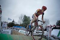 race leader Kevin Pauwels (BEL/Sunweb-Napoleon Games)<br /> <br /> Jaarmarktcross Niel 2015  Elite Men & U23 race
