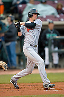 Kyle Russell #25 of the Great Lakes Loons follows through on his swing versus the Dayton Dragons at Fifth Third Field April 21, 2009 in Dayton, Ohio. (Photo by Brian Westerholt / Four Seam Images)