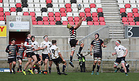 Wednesday 6th March 2019   Ulster Schools Cup - Semi Final 2<br /> <br /> Reuben Crothers during the Ulster Schools Cup semi-final between MCB and Wallace High School at Kingspan Stadium, Ravenhill Park, Belfast, Northern Ireland. Photo by John Dickson / DICKSONDIGITAL