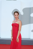 """VENICE, ITALY - SEPTEMBER 08: Cristiana Capotondi attends the red carpet of the movie """"Freaks Out"""" during the 78th Venice International Film Festival on September 08, 2021 in Venice, Italy. (Photo by Mark Cape/Insidefoto)"""
