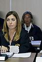 Manos Limpias attorney Virginia Lopez Negrete (R); Anti-corruption prosecutor Ana Lamas