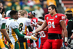 Illinois State Redbirds tight end Joe Farmer (84) in action during the FCS Championship game between the North Dakota State Bison and the Illinois State Redbirds at the Toyota Stadium in Frisco, Texas. North Dakota defeats Illinois 29 to 27.