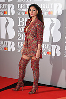Nicole Scherzinger<br /> arrives for the BRIT Awards 2017 held at the O2 Arena, Greenwich, London.<br /> <br /> <br /> ©Ash Knotek  D3233  22/02/2017