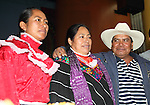 Mexico Mexican Native Ñah Ñuh Jacinta Francisco Marcial (C) is hugged by her husband Guillermo Francisco Prisciliano and her daughter Estela Hernandez after being released from prison, September 17, 2009. Jacinta Francisco Marcial was charged by kidnapping six Federal policemen during a police raid in her Santiago Mexquititlan town market on August 2006. Photo by Heriberto Rodriguez