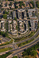 Aerial photo of a downtown Charlotte neighborhood taken May 2008.