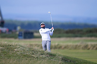 3rd October 2021; The Old Course, St Andrews Links, Fife, Scotland; European Tour, Alfred Dunhill Links Championship, Fourth round; Tyrrell Hatton of England plays from the rough on the fourteenth hole during the final round of the Alfred Dunhill Links Championship on the Old Course, St Andrews