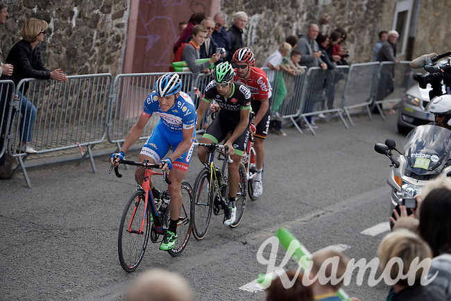 Frederik Veuchelen (BEL/Wanty-Groupe Gobert) leads the breakaway group into the final local laps in Thuin<br /> <br /> Tour de Wallonie 2015<br /> stage 5: Chimay - Thuin (167km)