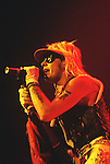 Various live photographs of the rock band, Motley Crue