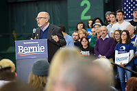 Democratic New Hampshire governor candidate Andru Volinsky speaks at a campaign rally for Democratic presidential candidate and Vermont senator Bernie Sanders at Hampshire Hills Athletic Club in Milford, New Hampshire, on Tue., Feb. 4, 2020. The  event started around 7pm and was the first event Sanders held after the previous day's Iowa Caucuses. The results of the caucuses were unknown until the Democratic party released partial numbers at 5pm, showing Sanders and former South Bend, Ind., mayor Pete Buttigieg both as frontrunners. Volinsky is the first governor candidate to be endorsed by Sanders.
