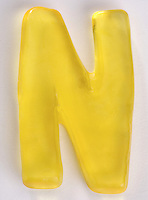 Yellow Gummi Letter