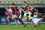 NELSON, NEW ZEALAND - AUGUST 21: ITM Cup match between the Tasman Makos and Bay of Plenty at Trafalgar Park on August 21, 2015 in Nelson, New Zealand. (Photo by Barry Whitnall/Shuttersport Limited)