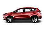 Car Driver side profile view of a 2017 Ford Kuga Titanium 5 Door SUV Side View