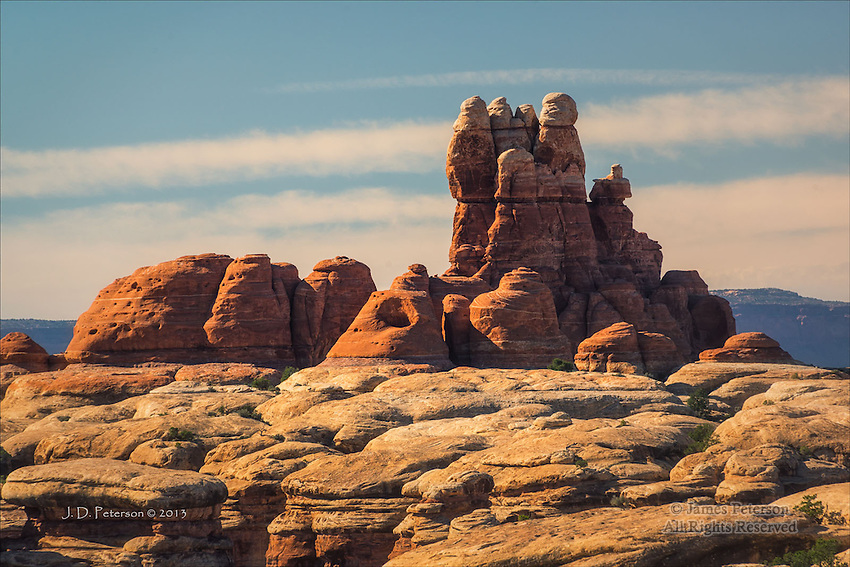 Slickrock Ridge, Needles District, Canyonlands National Park, Utah