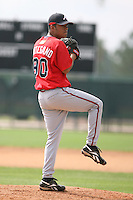 March 23rd 2008:  Jose Ortegano of the Atlanta Braves minor league system during Spring Training at Disney's Wide World of Sports in Orlando, FL.  Photo by:  Mike Janes/Four Seam Images