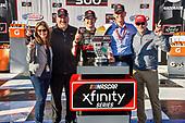 #20: Harrison Burton, Joe Gibbs Racing, Toyota Supra Dex Imaging in victory lane