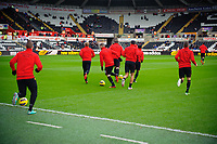 Sunday, 23 November 2012<br /> <br /> Pictured: <br /> <br /> Re: Barclays Premier League, Swansea City FC v Manchester United at the Liberty Stadium, south Wales.