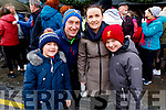 Conor, Colm, Catherine and Diarmuid Brown attending the Bill Kirby Memorial Walk fundraiser for the Kerry Hospice on St Stephens morning.