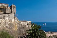Europe/France/Corse/2B/Haute-Corse/Cap Corse/Nebbio/Bastia: Echauguette et remparts de la Citadelle