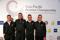 171025 Golf - Asia-Pacific Amateur Championship Presser