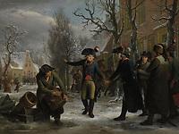 General Daendels Taking Leave of Lieutenant-Colonel Krayenhoff, Adriaan de Lelie, Egbert van Drielst, 1795