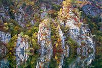 Fall colours on Drina River. Tara Mountain - Serbia